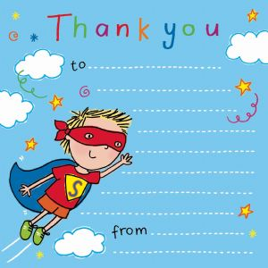 Super Hero Thank You Note